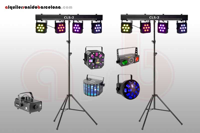 Pack Luces Disco 3