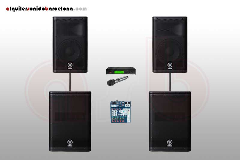 Pack Sonido 3400W